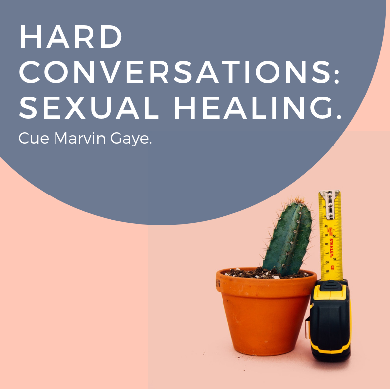 Hard Conversations: Sexual Healing. Cue Marvin Gaye.
